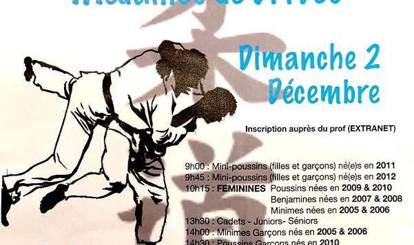 Animation judo et médailles à Brives Charensac le dimanche 02 décembre 2018